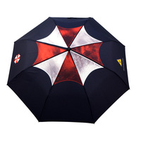 Free shipping Personality umbrella male folding  weather umbrella three fold umbrella