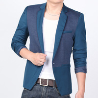 Men's Clothing suits for men  autumn patchwork the trend of male slim  easy care commercial  outerwear  Blazers