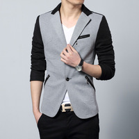 Men's Clothing suits for men Slim wool  male casual  spring tide of dot patchwork  outerwear male  Blazers