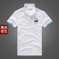 2014 cotton polo shirt male solid color business casual sports men's slim T-shirt male polo shirts