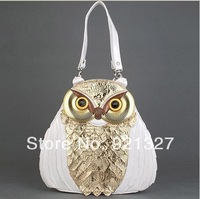 2014 fashion unique owl  cross-body shoulder messenger bags handbags women famous brand genuine leather handbags free shipping