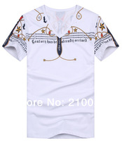 2014 summer new cotton men's T-shirt Glyph classic MAN T-shirt T