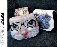 new 2014 women's fashion handbag 3D animal cat printing cartoon dog animal bag shoulder cross-body small bags 2013-1034