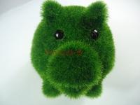 Artificial grass animals pig piggy bank Creative gifts new exotic gifts gifts artificial grass small animals 32pcs
