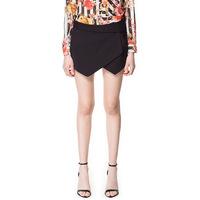 New Fashion elegant Black white Blue Asymmetrical Geometric Shape shorts Slim Vogue stylish casual brand designer shorts