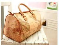Women's Handbag Totes Bag Sling Satchel Map Pattern Purse Ladies Bags