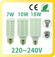 Super Bright 7W 10W 18W Warm White E27 SMD5050 COB LED Corn Lamps Energy Saving LED Corn Lights Bulb 360 degree For Home
