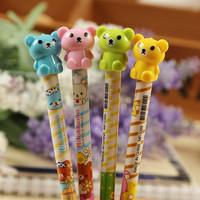 Korean models stationery, fresh and lovely Rilakkuma pencil, rabbit pencil, student prizes wholesale