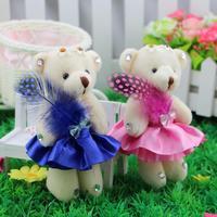 Angel diamond Teddy bear joint bear cartoon bouquet of flowers, flower bag doll wedding gifts small Tactic bear wholesale