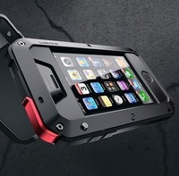 New Metal -Three Phone Case For Iphone 4/4S Waterproof Protective Case
