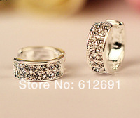 Fashion no pierced ear clip charms crystal ear cuff C-type full drilling earrings for women jewelry LM-C295 New