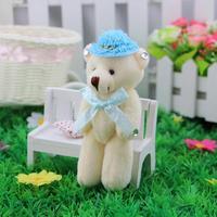 Taiwan version of elegance diamond bear. Married Winnie, 13 cm teddy bear hat, bag flower materials, dolls wholesale