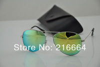 Hot , UV protection sunglasses men , women sunglasses , fashion sunglasses 025 , 58mm Color reflective lenses glass lens