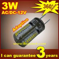 Free shipping BOPO LED G4 48Pcs SMD3014 AC/DC 12V crystal lamp Marine Camper Car Bulb Lamp