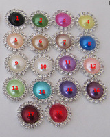 Free Shipping!100pcs/lot 16mm 18colors round metal rhinestone pearl button wedding embellishment headband DIY accessory