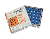 Free shipping!!! 50pcs/lot very cheap Brunswick billiard pool cue tips/12mm billiard tips billiard accessories wholesales