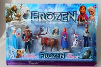 New Arrival Frozen Figure Play Set Anna Elsa Hans Kristoff Sven Olaf Figure Toys With Box Free Shipping