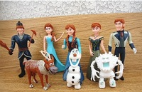 Free Shipping 8-11CM New Movie Cartoon Frozen pvc Action Figures Children Toys Gifts 8pcs/lot