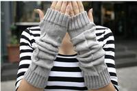 All-match yarn square l arm sleeve fingerless long gloves trigonometric wristiest arm sleeve