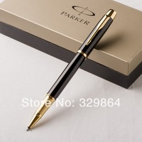 Parker pen IM black ball-point pen free shipping placer gold pen crystal mont roller pen ball capsul free shipping