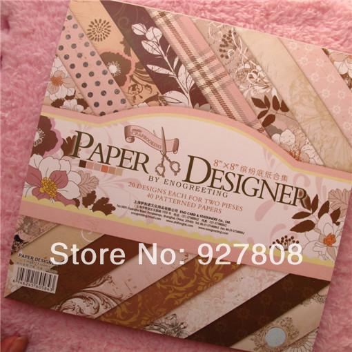 Exceptionnel 2018 8 Flower Designer Paper Pad Photo Album Scrapbooking Handmade  NF22