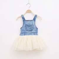 5pcs/lot wholesale ,denim sundress baby clothes,sleeveless gril dress,casual dress