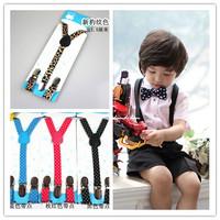 Three clip straps Adjustable Dot leopard baby Suspenders baby Elasti Braces Kids boys Suspenders,Size 1.5*70 CM,20pcs/lot