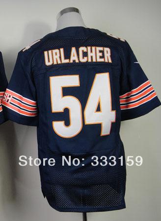 Wholesale Football Jerseys Chicago #54 Brian Urlacher Jersey Men's Navy Elite Football Jersey Embroidery Design Jersey Shop(China (Mainland))