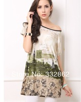 2014 explosion models plus fertilizer to increase trade new short-sleeved summer ice silk dress code