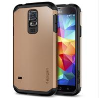 DHL free shipping fashion design SGP Spigen ToughArmor case for Samsung Galaxy S5 i9600 , Hybrid hard case for S5 100 pcs/lot