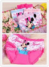 Descuentos promocionales Bragas ropa interior pantalones cortos bebé niños Fichas mayor bragas Minnie Mouse , 6pcs / lot, Rusia(China (Mainland))