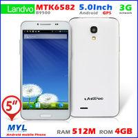 HTM LANDVO B9500 9500 MTK6582 Quad Core 5'' 854x480 Android 4.2 3G Smart Phone 1.3GHZ 512MB 4GB Dual SIM Camera GPS