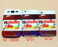 New Nutella Design Pattern Hard Back Case for iphone 4/4S 5/5S/5C Samsung Galaxy S3 i9300 Free Shipping