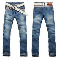 2012 summer slim all-match summer distrressed jeans slim thin male z25