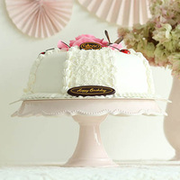 Solid color western style ceramic tall cake plate circle cake stand tableware