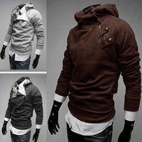 Hot Sale Men's Fashion Slim Fit Casual Hoody Hoodies Outwear Coat