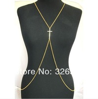 European Style Gold Plated Alloy Chain Cross Body Chain waist chain Necklace   6pieces/lot