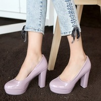 Free shipping Spring high-heeled shoes princess ice cream thick platform heels shoes