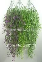 120cm 5pc/ lot Artificial flower hanging basket flower vine plastic artificial plants Ivy Garland  Free Shipping