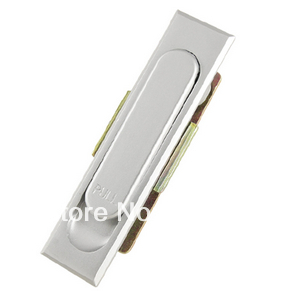 Cabinet 380-2 Pull Handle Panel Metal Lock Silver Tone(China (Mainland))
