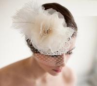 Mesh hair accessories Wedding Dresses Bridal Veil, tiara Europe and fine mesh organza veil