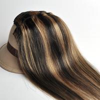 "Free Shipping 100% real Brazilian  virgin Human Hair Clip in Extensions 14"" -30"" 70g -120g 7Pcs/Set  #1B-27 black mix Brown"