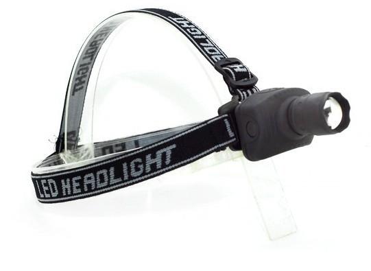 10 PCS 3 w led camping light zoom head lamp The head lamp flashlight 3XAAA(China (Mainland))