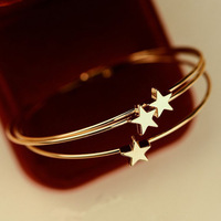 South Korean Sweet DelicateThree-Dimensional Five-Pointed Star Bracelets & Bangles S318