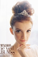 Crystal Pearl bridal tiara comb wedding hair accessories hair band in Europe and accessories