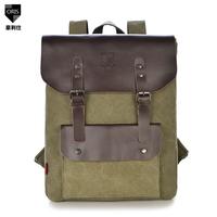 new 2014 Canvas backpack men bag commercial casual backpack laptop bag school backpacks men travel bags vintage bag back pack