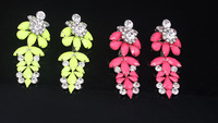 New 2014 Fluorescent Imitation Imitation Diamond Big Earrings For Women
