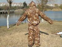 Ultralight Jacket and Pants Mesh Ghillie Suit Camo 3D Desert Camouflage net suit Bionic training suit Combat clothing