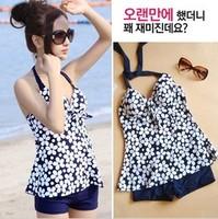 new 2014 Spa swimsuit  high waist swimwear women's plus size tankini set 19 colors