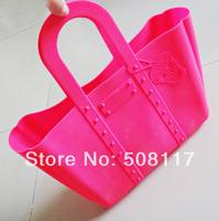 DHL free shipping to USA 50PCS/lot Fashion ladies silicone shopping bag